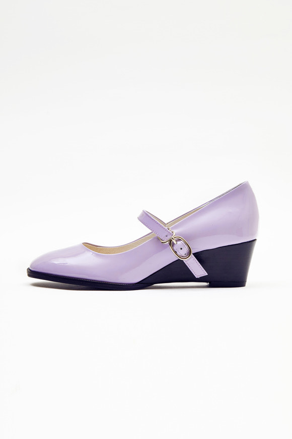 Light Purple Mary Jane Wedge
