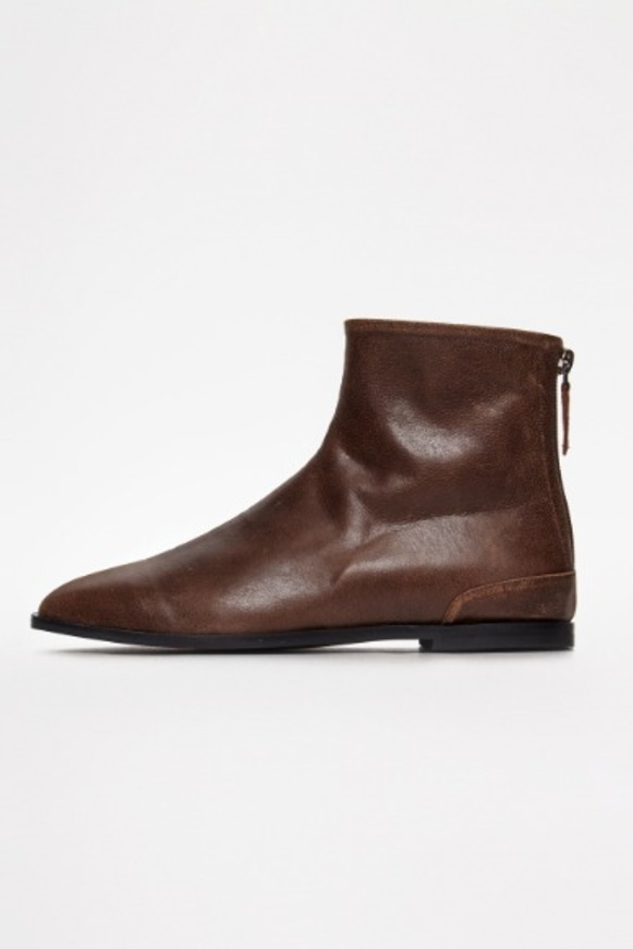 Ragged Brown Flat Boots